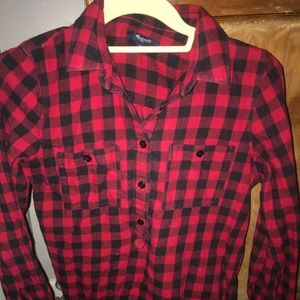 Madewell black and red buffalo check flannel